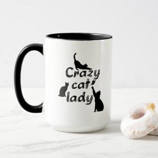 Fun Funnyおよびクールでよくはしゃぐな猫熱狂するな猫の女性 マグカップ