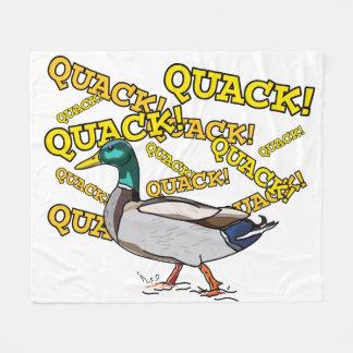 Fun Male Mallard Duck Walking Quack フリースブランケット