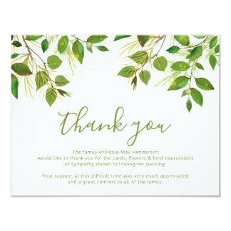 Funeral Thank You Note | Behreavement カード