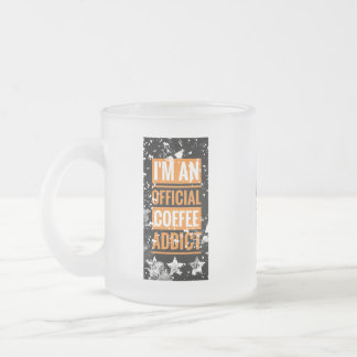 Funky I'm an Official Coffee Addict Mug フロストグラスマグカップ
