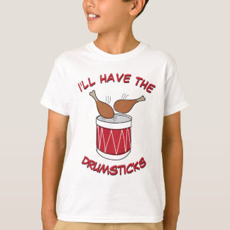 Funny and Cute Drumsticks Thanksgiving Drawing Tシャツ