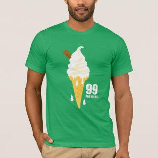 Funny bold summer icecream graphic illustration tシャツ