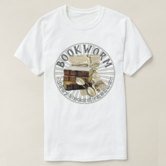 Funny Bookworm Old Books Tシャツ
