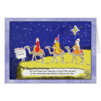 Funny Christmas Card: The Three Kings カード