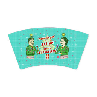Funny Christmas Party Retro Adult Drinking Holiday 紙コップ
