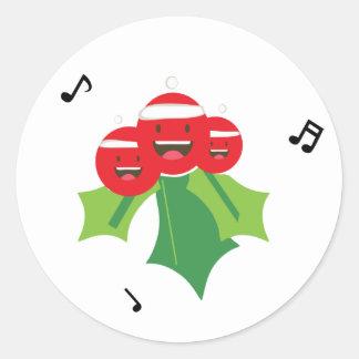 Funny Christmas Sticker ラウンドシール