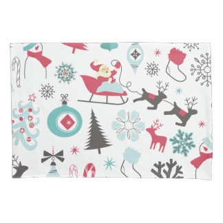 Funny Colorful Christmassy Pattern 枕カバー