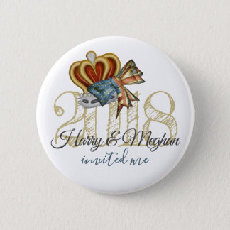 Funny Harry And Meghan Invited Me Royal Wedding 5.7cm 丸型バッジ