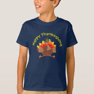"Funny Little Turkey  ""Happy Thanksgiving"" - Tee Tシャツ"