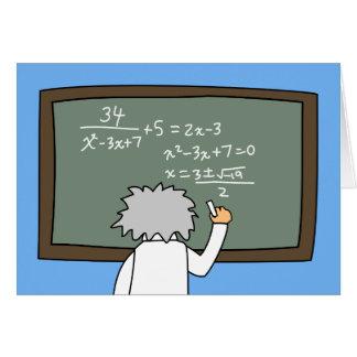 Funny Math Birthday Card Maths Themed Cartoon カード