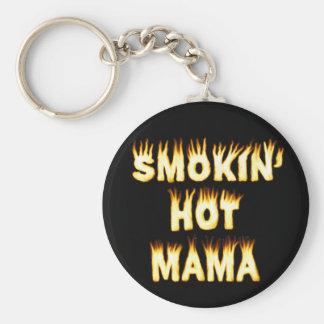 funny Mother Flames Smokinの熱いママ キーホルダー