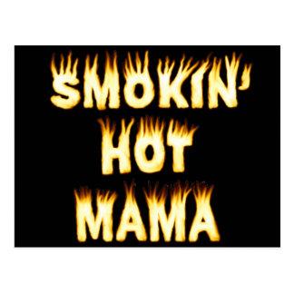 funny Mother Flames Smokinの熱いママ ポストカード