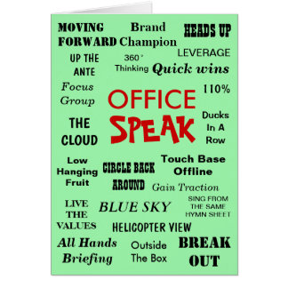 Funny Office Management Jargon - Birthday Leaving カード