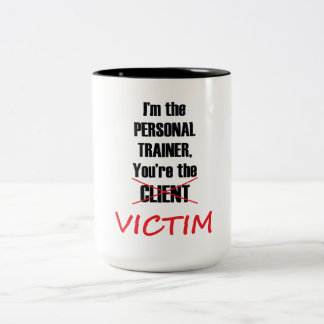 Funny Personal Trainer Fitness Workout Mug ツートーンマグカップ