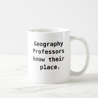 funny Quote Joke Pun地理学教授 コーヒーマグカップ