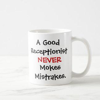 Funny Receptionist Joke Quote コーヒーマグカップ