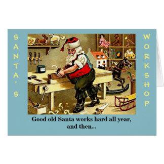 Funny Santa Claus Christmas Card カード