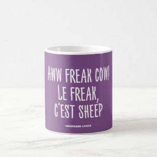 Funny typographic misheard song lyrics コーヒーマグカップ