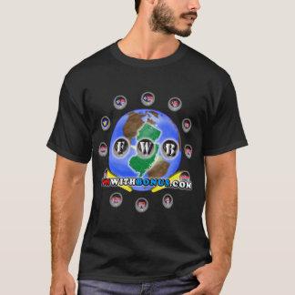 FunWithBonusの黒いTシャツは独身の味方しました Tシャツ