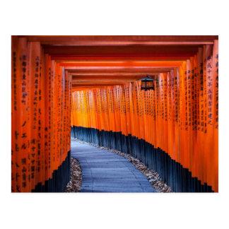 Fushimi Inari-Taishaの神社のTorii道 ポストカード