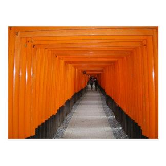 Fushimi Inari TaishaのToriiのゲート ポストカード
