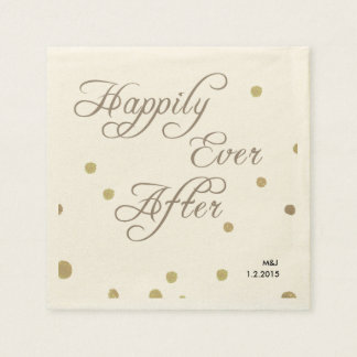 Fusianのロマンスの結婚式の紙ナプキン スタンダードカクテルナプキン