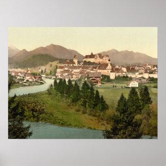 Fussenのババリア、ドイツの記録保管プリント ポスター