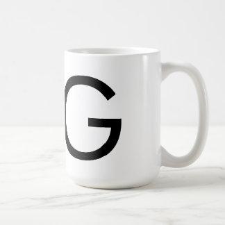 """Futuraのタイポグラフィ""""G""""のマグ コーヒーマグカップ"""