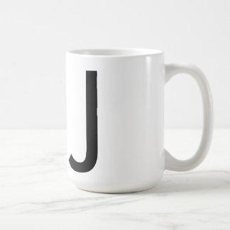 """Futuraのタイポグラフィ""""J""""のマグ コーヒーマグカップ"""