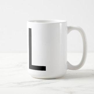 """Futuraのタイポグラフィ""""L""""マグ コーヒーマグカップ"""