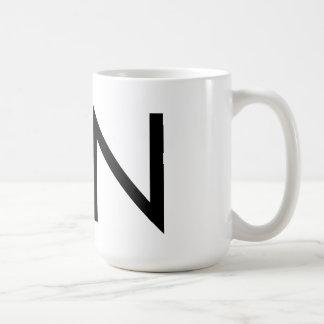 """Futuraのタイポグラフィ""""N""""のマグ コーヒーマグカップ"""