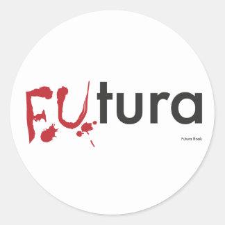 Futura -血の点滴注入のフォント-ハッピーハローウィン ラウンドシール