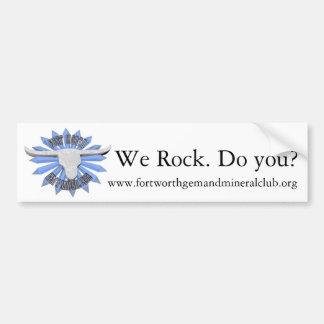 FWGnMCロゴ、私達は揺れます。 か。、www.fortworthgem… バンパーステッカー