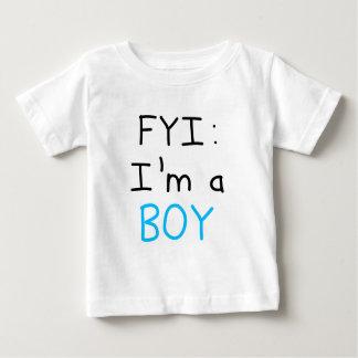 FYI: 私は男の子です ベビーTシャツ
