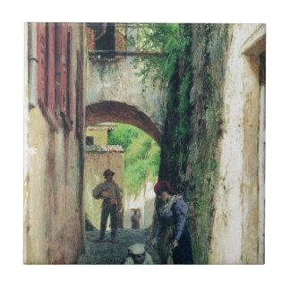 Fyodor Bronnikov著イタリアの通り タイル