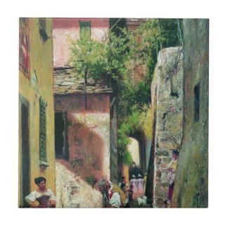 Fyodor Bronnikov著イタリアンな町の通り タイル