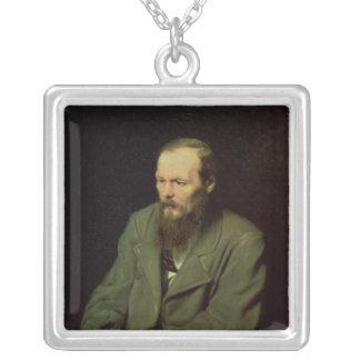 Fyodor Dostoyevsky 1872年のポートレート シルバープレートネックレス