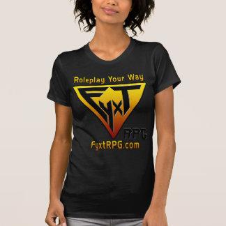 Fyxt RPGのロゴおよびモットーの暗闇の服装 Tシャツ