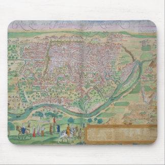 Gによる「Civitates Orbis Terrarum」からのカイロの地図、 マウスパッド