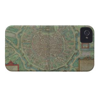 Gによる「Civitates Orbis Terrarum」からのミラノの地図、 Case-Mate iPhone 4 ケース