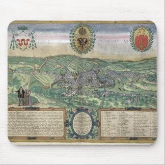 Gによる「Civitates Orbis Terrarum」からのリエージュの地図、 マウスパッド