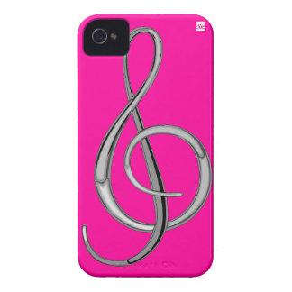 Gのクレフ、音符記号音楽iPhone 4の穹窖の箱のピンク Case-Mate iPhone 4 ケース