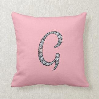 Gのモノグラムのきらきら光るな枕 クッション