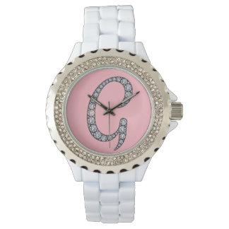 Gのモノグラムのきらきら光るな腕時計 腕時計