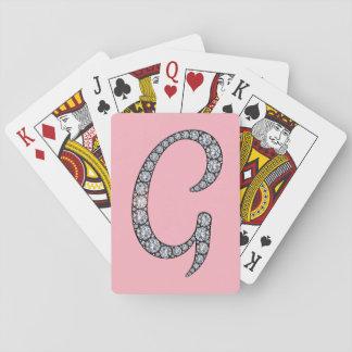 Gのモノグラムのきらきら光るな遊ぶカード トランプ