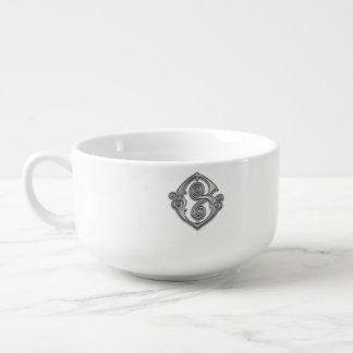 Gのモノグラムの銀の螺線形のスープボウル スープマグ
