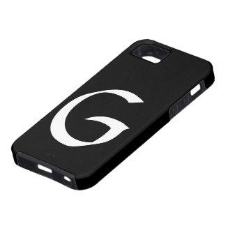 Gのモノグラムの黒のIPhone 5の場合 iPhone SE/5/5s ケース