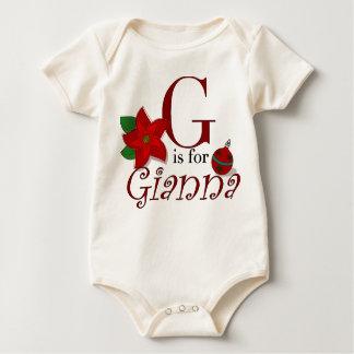Gはジャンナのベビーの初めてのクリスマスのティーのためです ベビーボディスーツ