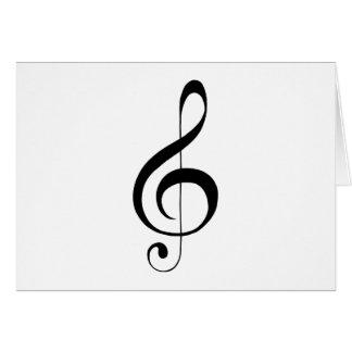 Gクレフ、音符記号のト音記号のギフト カード