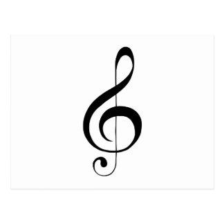 Gクレフ、音符記号のト音記号のギフト ポストカード